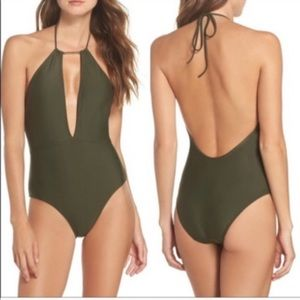 Ted Baker Pikaa One Piece Swimsuit Green